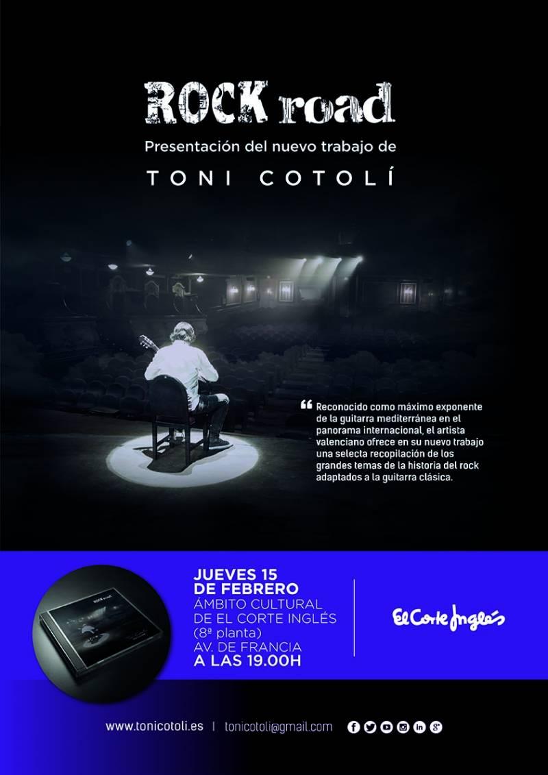 Cartel presentación El Corte Inglés, Toni Cotolí