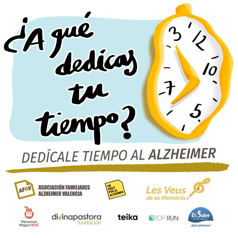 Cartel campaña Un Pósit por el Alzheimer./ EPDA