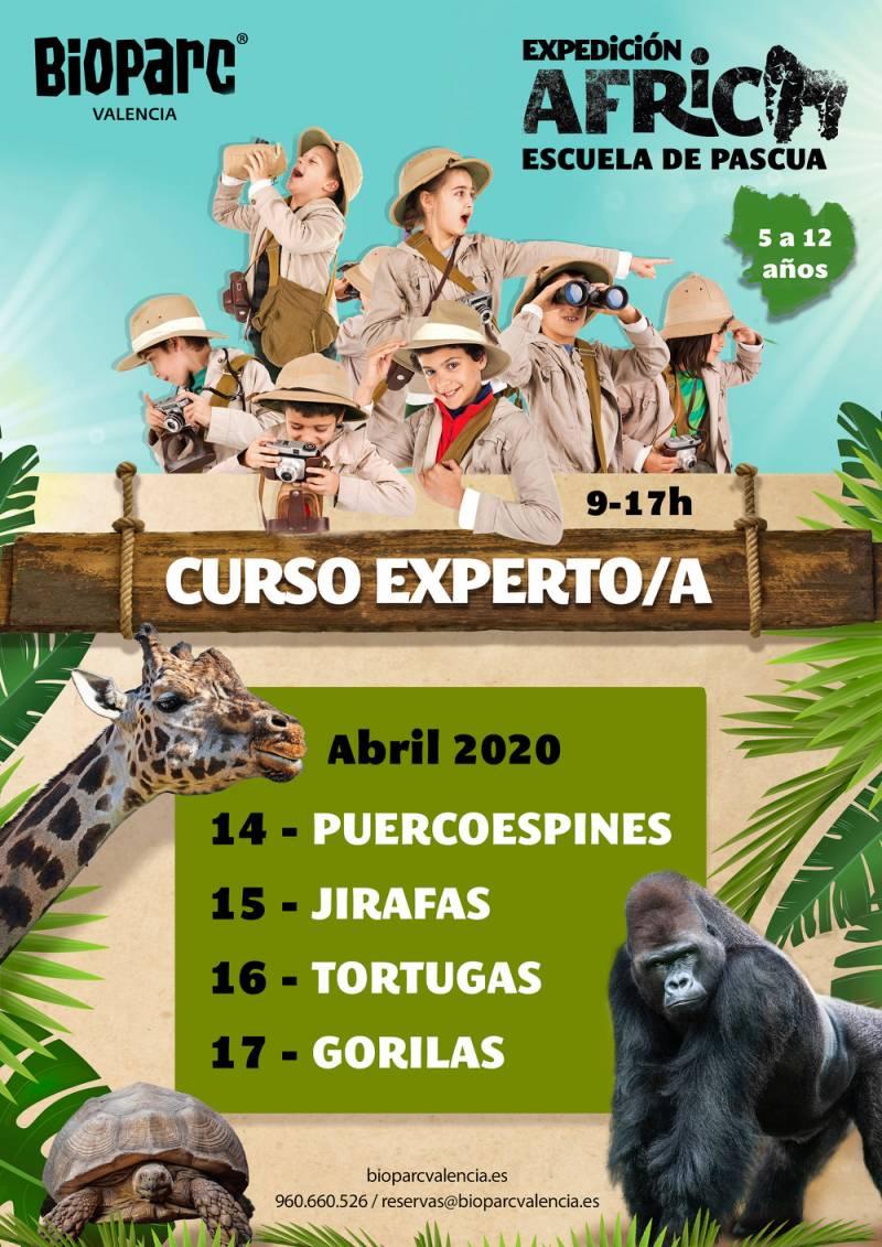 Cartel Escuela de Pascua 2020 Expedición África