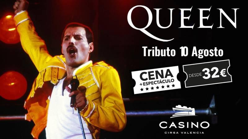 Tributo Queen 10 agosto Casino Cirsa Valencia