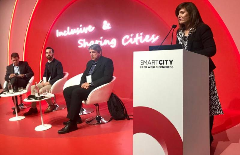 La diputada Mentxu Balaguer interviene en el Smart City Expo World Congress