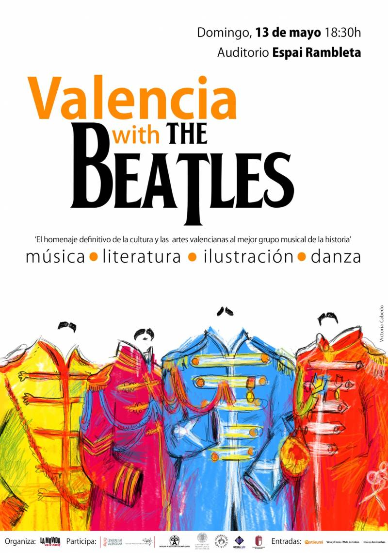 Cartel Valencia with The Beatles