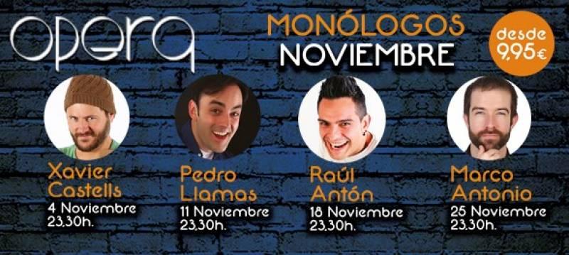 Monólogos de Opera noviembre 2017 Casino Cirsa Valencia