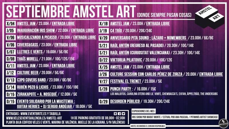 CARTEL SEPTIEMBRE 19 AMSTEL ART