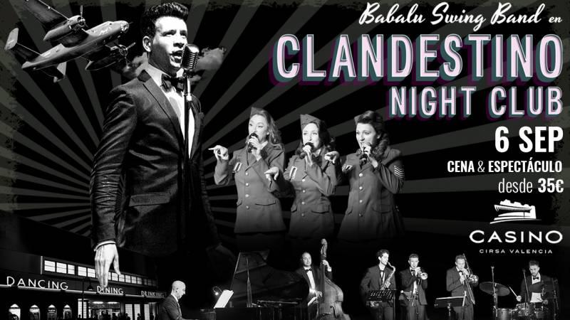 Cartel del Clandestino Night Club de Casino Cirsa València. ViuValència