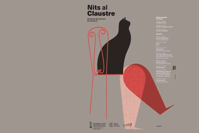 Cartell de Nits al Claustre. EPDA