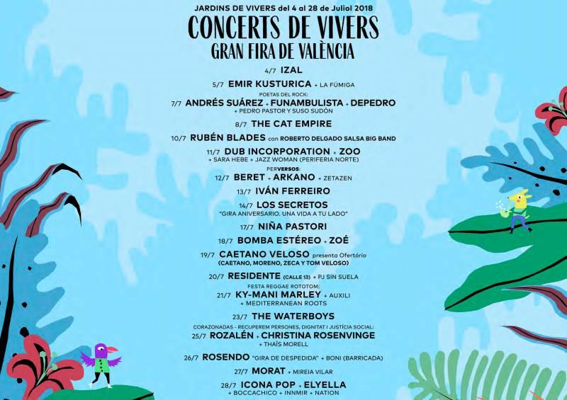 Cartel de Concerts de Vivers