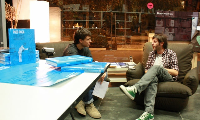 Imagen tomada durante un momento de la entrevista (Foto: Ángel Solaz)