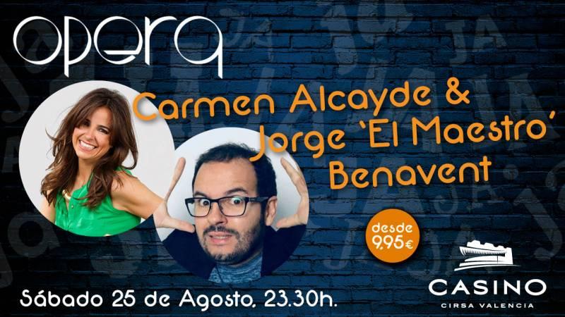 La presentadora de TV, Carmen Alcayde, actuará el 25 de agosto en la sala Ópera de Casino Cirsa
