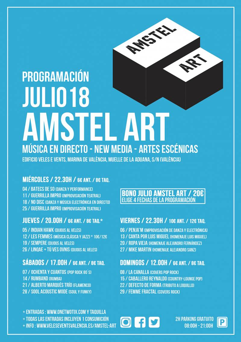 CARTEL JULIO AMSTEL ART