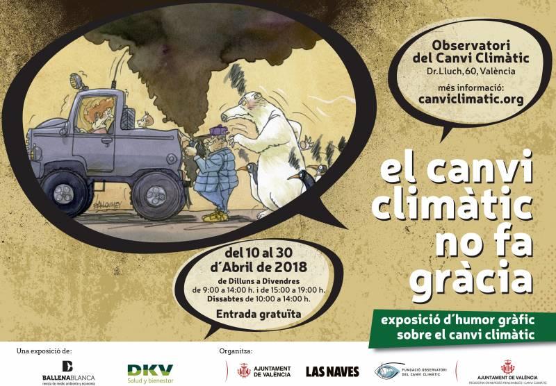 Cartel exposición cambio climático