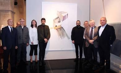 Luis Aznar, Juan Viña, Olga Adelantado, los galerístas ganadores, Antonio Ariño, Juan López-Trigo y Carlos Pascual