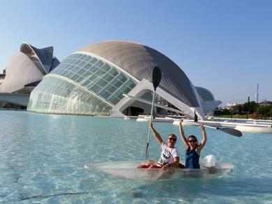 La Ciutat de les Arts i les Ciències ofrece de nuevo las actividades de barcas, bolas y kayaks