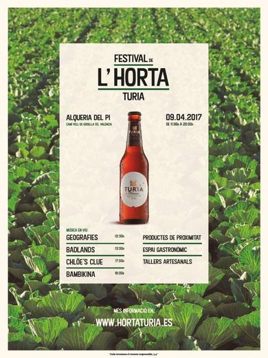 Cerveza Turia presenta la I edición de 'Festival de l'horta Turia'