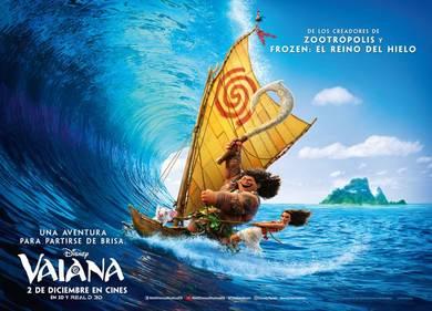 El Hemisfèric inicia el 22 de abril el ciclo 'Tardes Disney' con la película 'Vaiana'