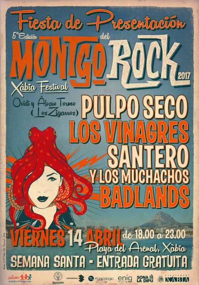 Fiesta gratuita de presentación del Montgorock Xàbia Festival