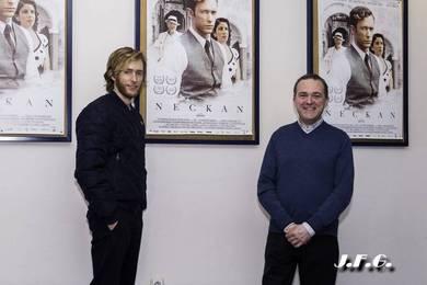 Pablo Rivero y Gonzalo Tapia en los cines Babel de Valencia