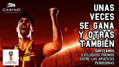 Mundial fútbol en Casino Cirsa Valencia