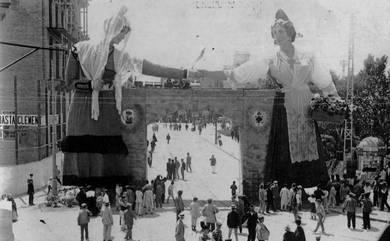 Falla del Ayuntamiento 1909