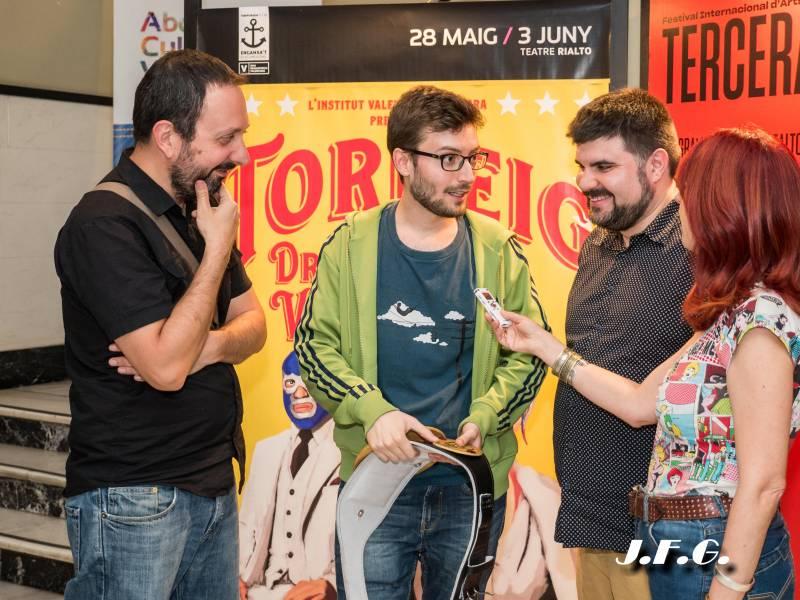 Gabi Ochoa, Adrián Novella y Jordi Casanovas