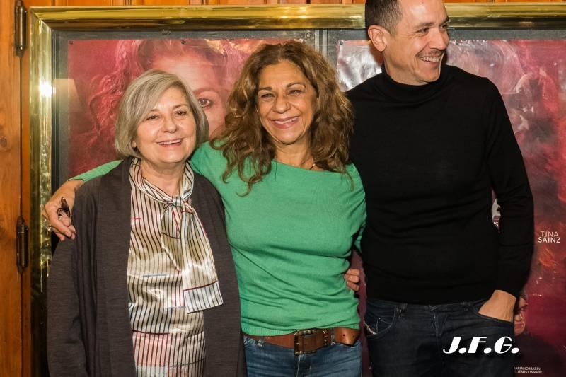 Tina Sáinz, Lolita Flores y Luis Luque