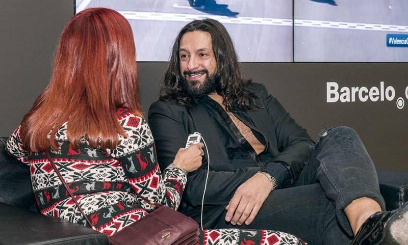 Rafael Amargo, durante la entrevista. FOTO JOSÉ FÉLIX GIMENO