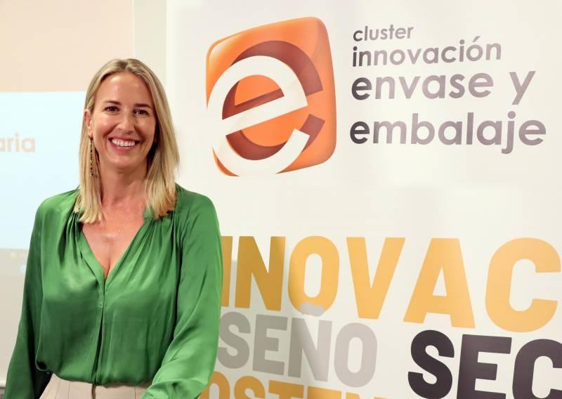La nueva presidenta del Cluster de Envase y Embalaje, Amaya Fernández. EPDA