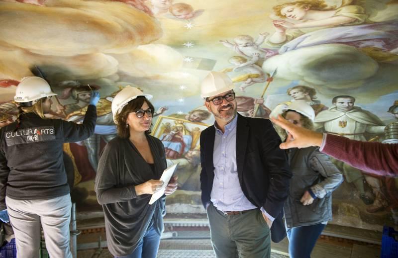 Altur visita restauración pinturas en El Puig // Abulaila