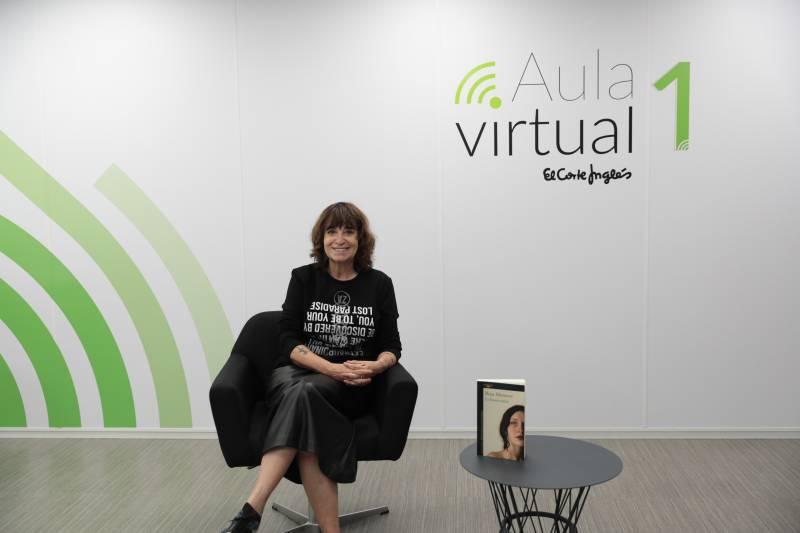 Rosa Montero en la charla online de El Corte Inglès./ EPDA
