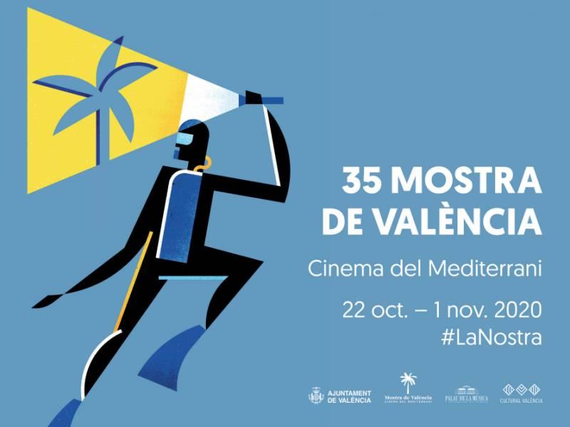 Cartel edición número 35 de Mostra de València-Cinema Mediterrani./ EPDA
