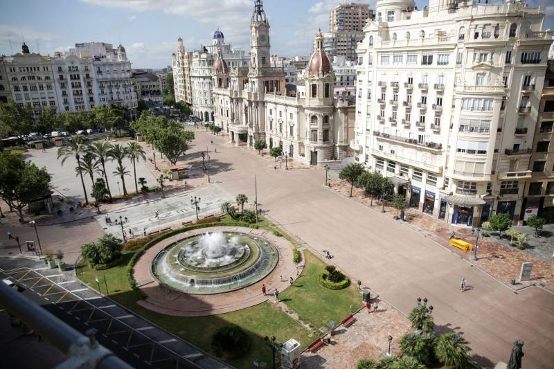 Finalización obras plaza del Ayuntamiento./ EPDA