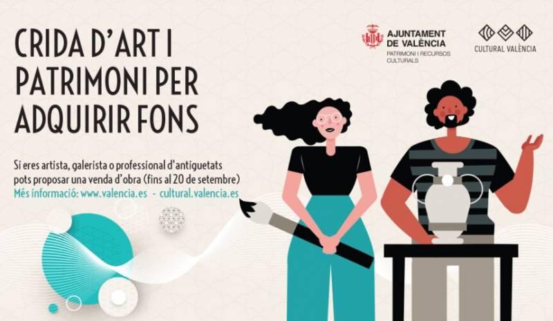 Cartel llamada por el arte y el patrimonio, València./ EPDA