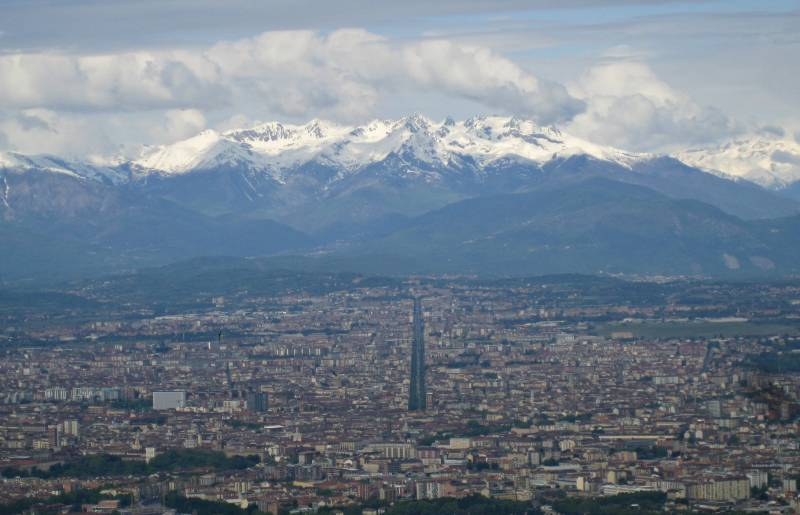 Vistas de Turin desde Superga, Foto Clara Estrems