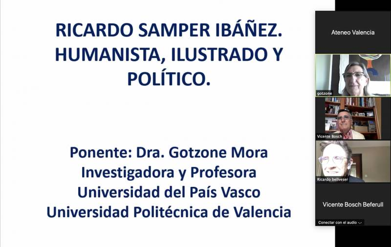 Conferencia sobre Ricardo Samper. EPDA